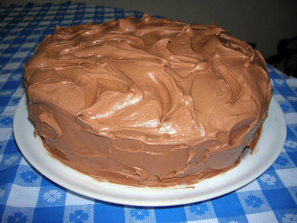 CHOCOLATE BUTTERMILK CAKE WITH CHOCOLATE BUTTERMILK FROSTING