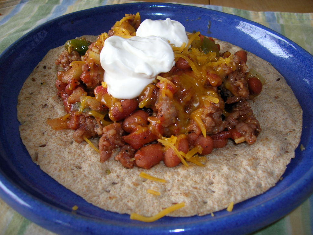 GREEN CHILI, PINTO BEAN, AND TOMATO TORTILLAS
