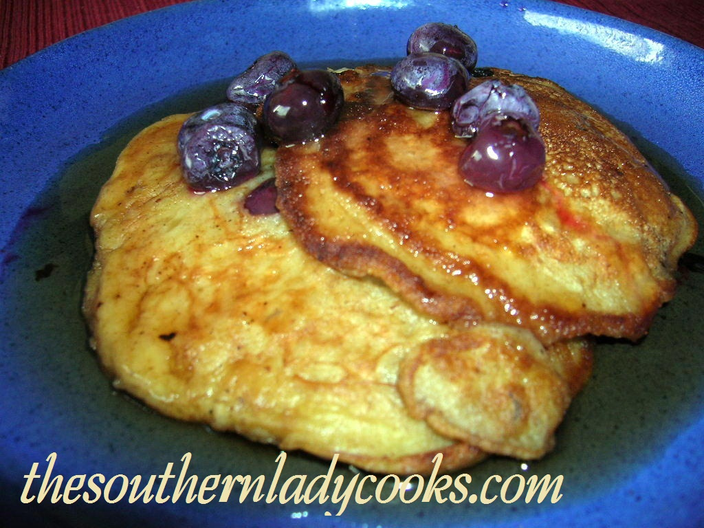 BANANA, BLUEBERRY BUTTERMILK PANCAKES