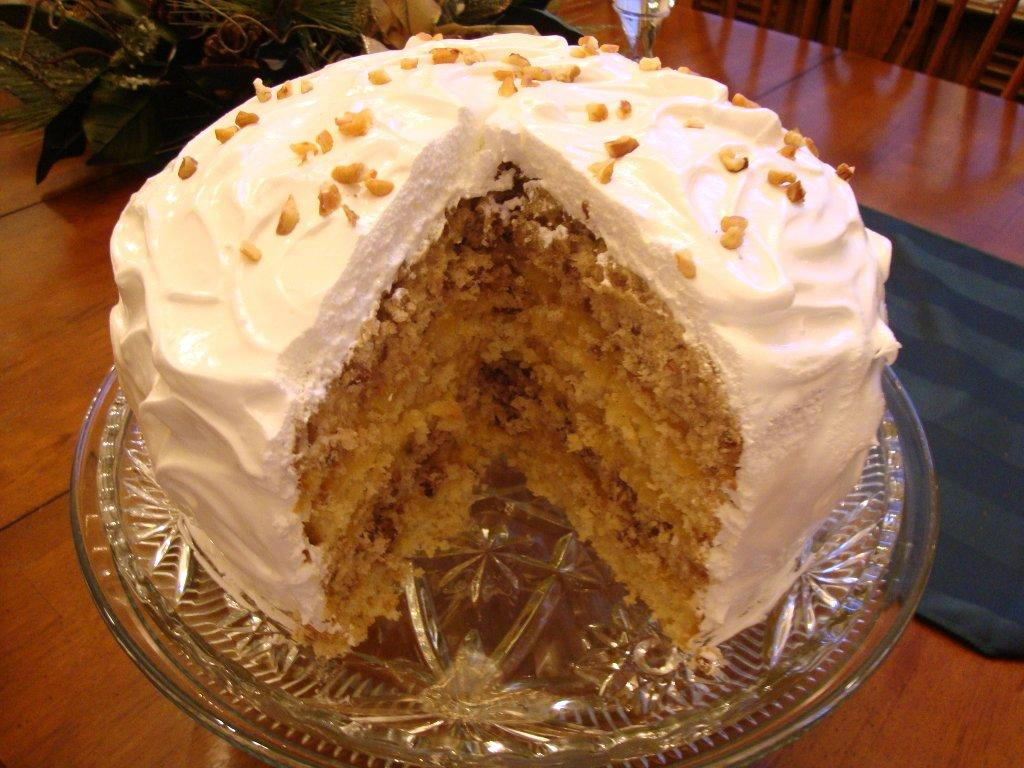 SPICE CAKE WITH CITRUS FILLING AND WHITE ICING