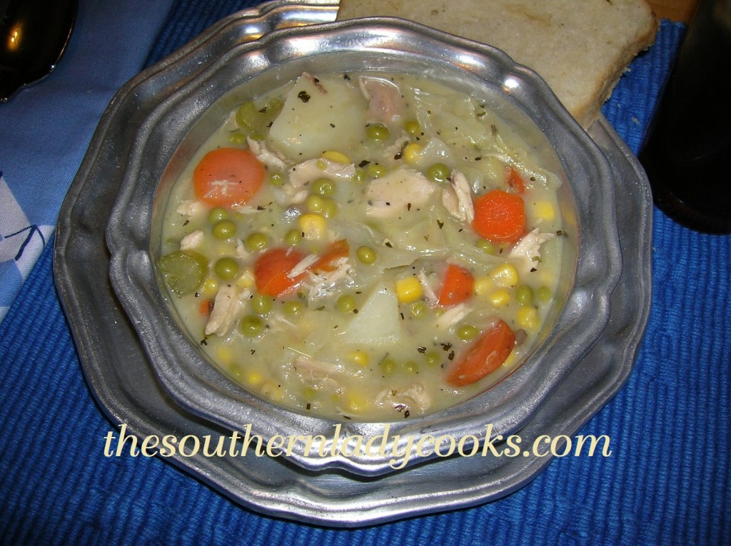 Creamy Chicken Vegetable Soup.