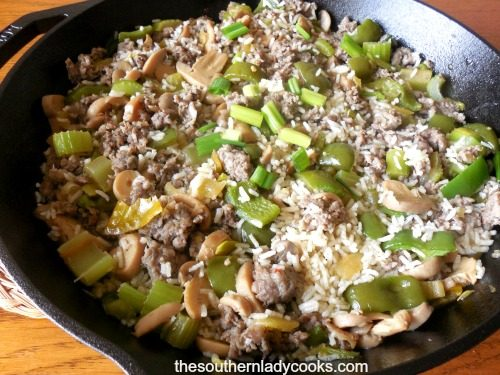 SAUSAGE AND RICE SKILLET MEAL