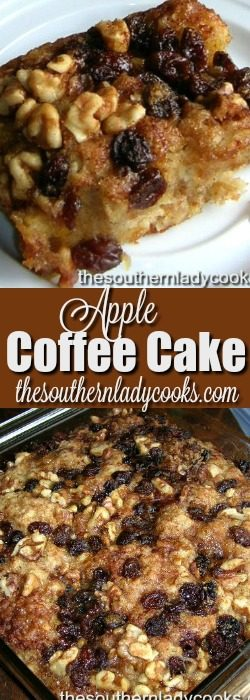 Grated Apple Coffee Cake