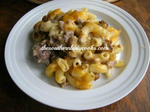 Hamburger Supreme Casserole The Southern Lady Cooks