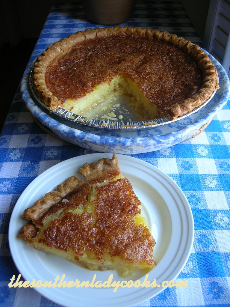 Chess Pie is sometimes called vinegar pie because you put vinegar in ...