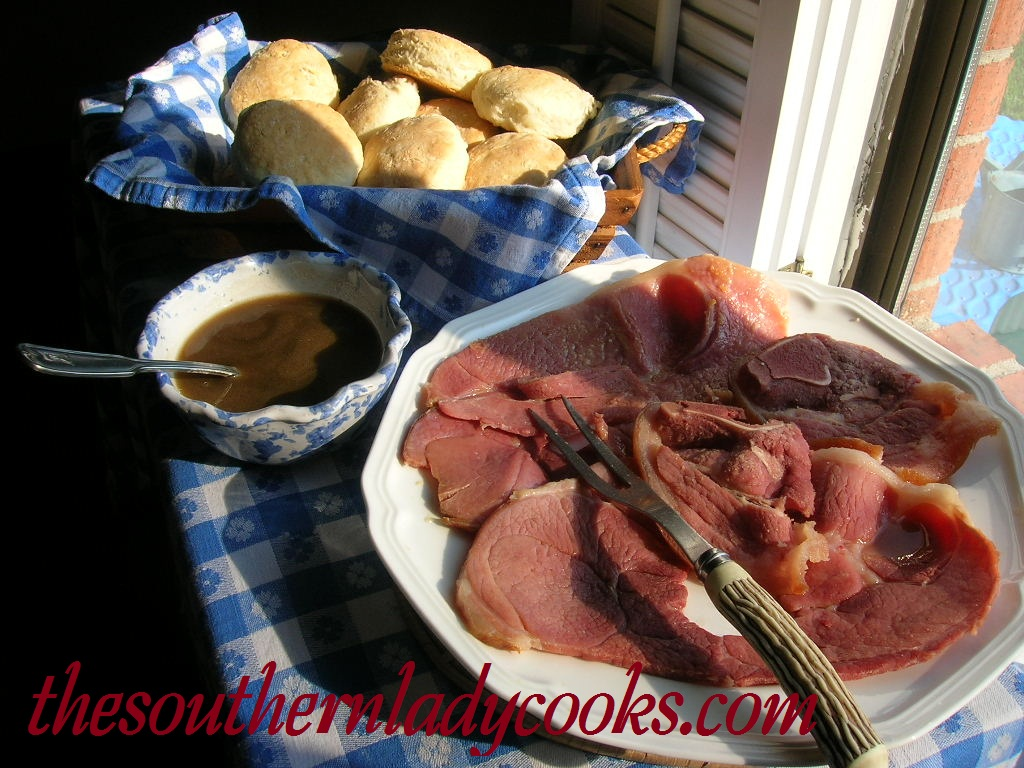 ham and red eye gravy. If you are not familiar with red eye gravy ...