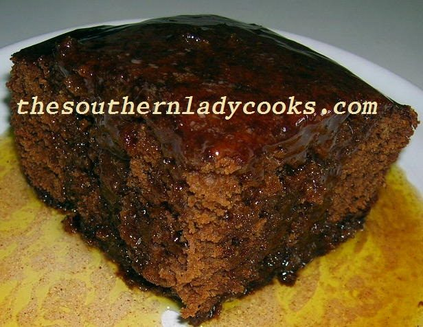 Sorghum Molasses Cake with Cinnamon Sauce - Copy