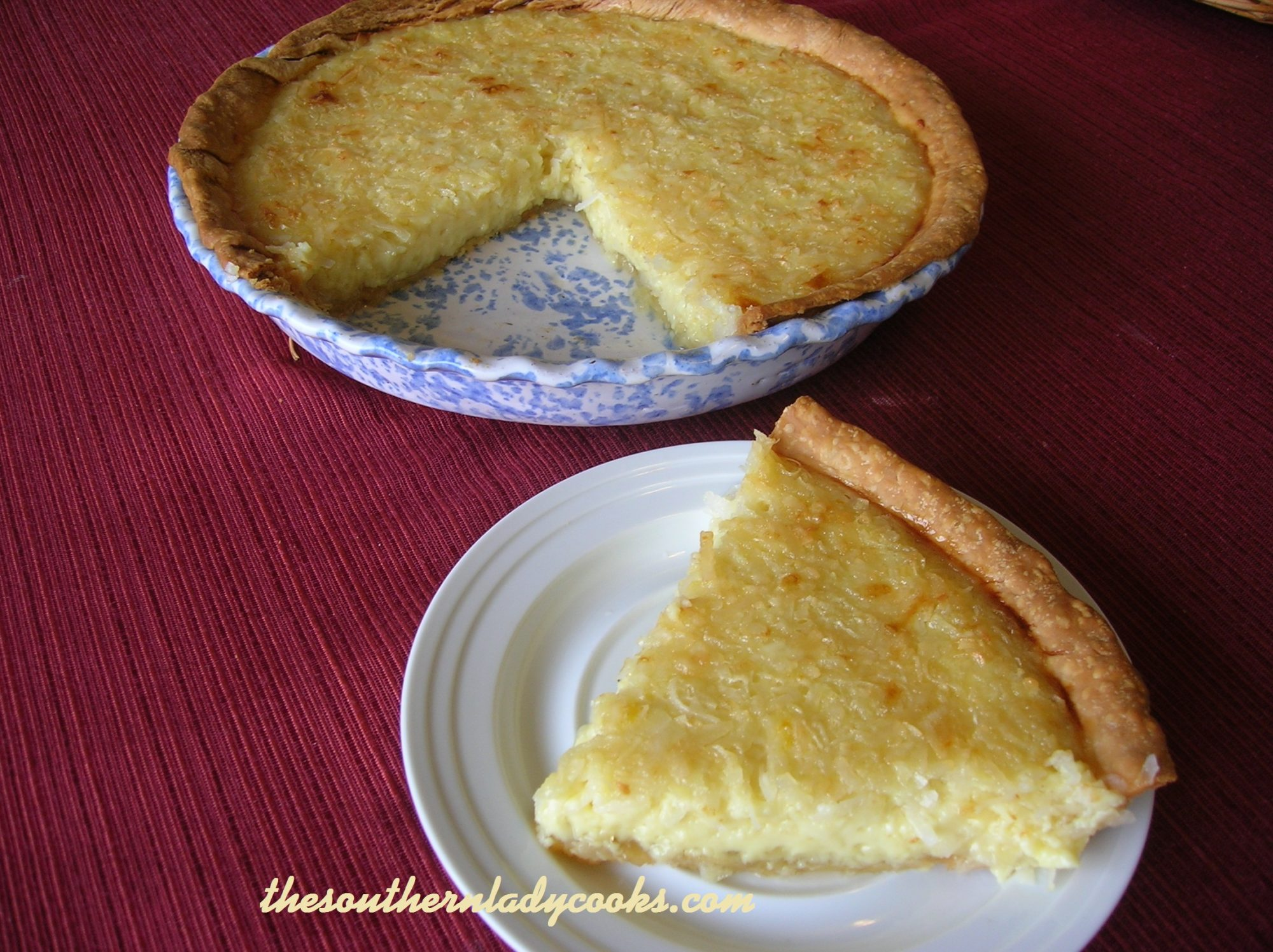 EASY COCONUT CUSTARD PIE - The Southern Lady Cooks