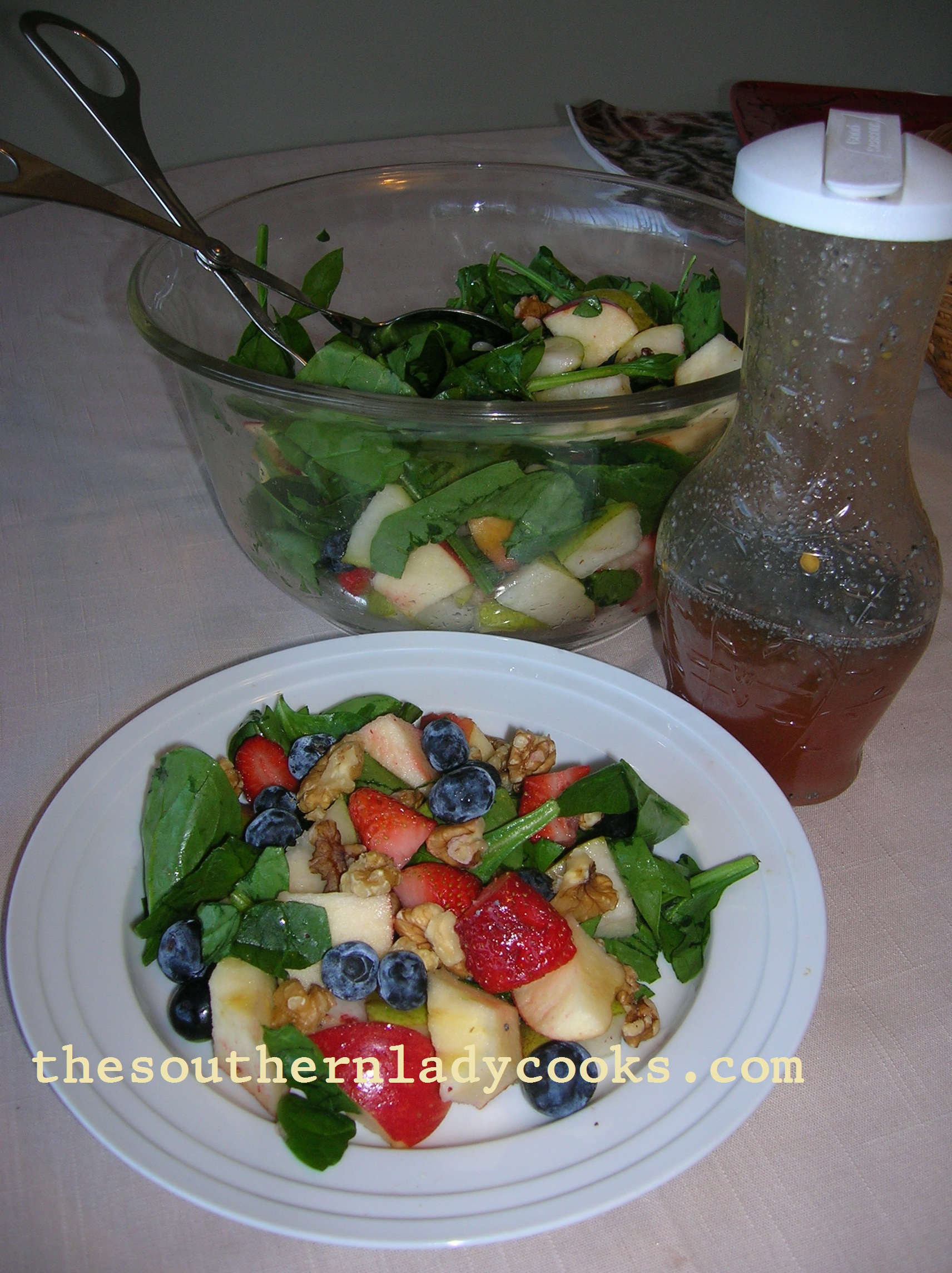 Fruity Spinach Salad with Poppy Seed Dressing