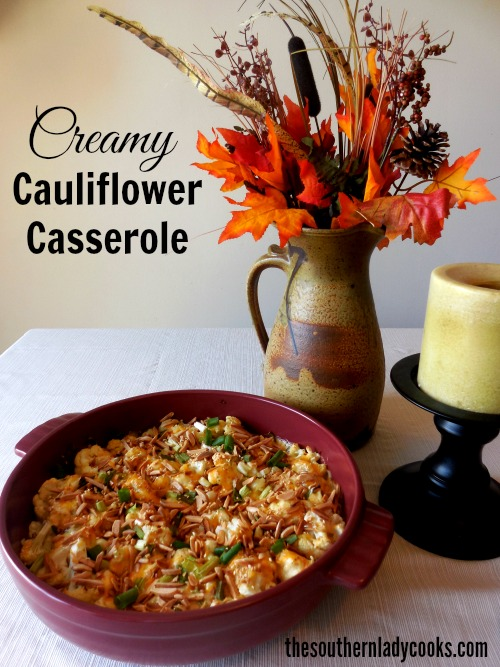 CREAMY CAULIFLOWER CASSEROLE