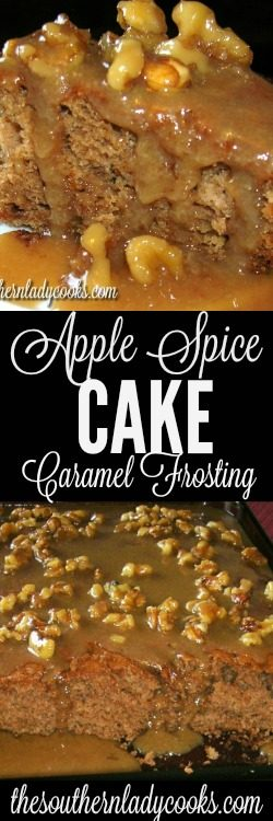 Apple Spice Cake With Caramel Frosting The Southern Lady