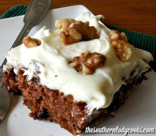 FRESH APPLE CAKE – CREAM CHEESE FROSTING