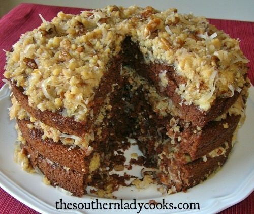 Brilliant German Chocolate Cake The Southern Lady Cooks Funny Birthday Cards Online Hendilapandamsfinfo