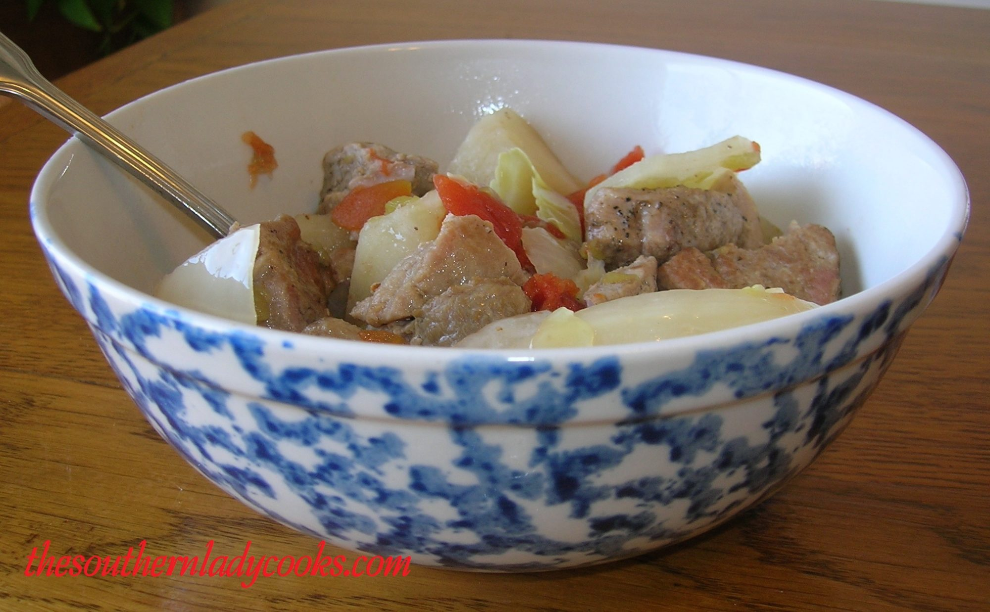 Crockpot Pork Steak Stew