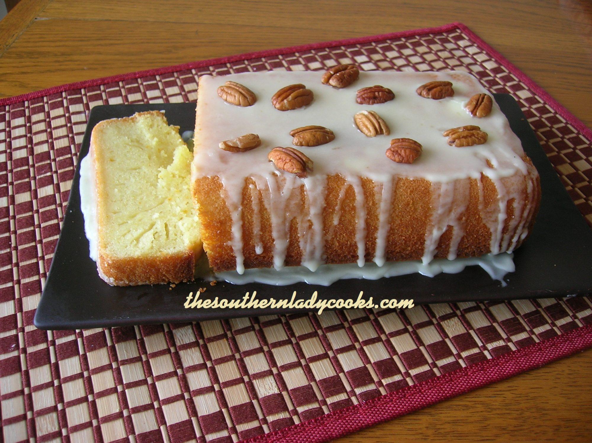 BUTTERY ORANGE POUND CAKE