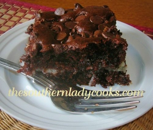 CHOCOLATE EARTHQUAKE CAKE