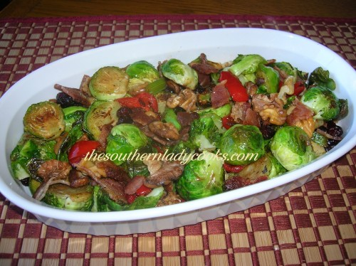 Roasted Brussel Sprouts with Bacon and Walnuts (3) - Copy
