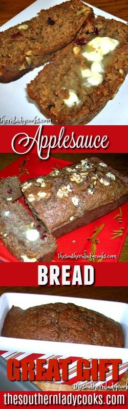Spiced Applesauce Bread The Southern Lady Cooks