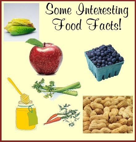 A LIST OF 10 INTERESTING FOOD FACTS