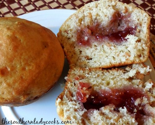 PEANUT BUTTER JELLY MUFFINS