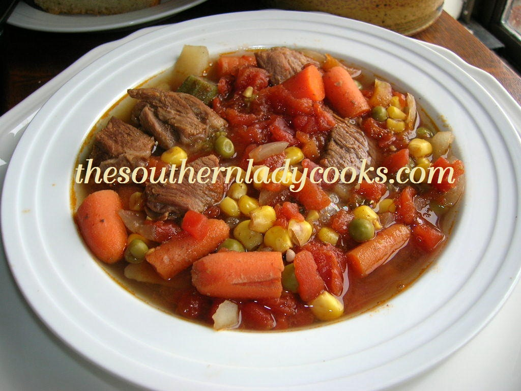 HOMEMADE VEGETABLE BEEF SOUP | The Southern Lady Cooks