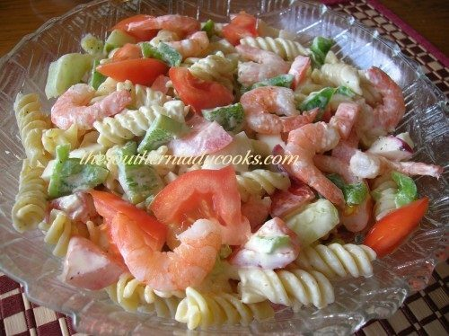 The Southern Lady Cooks – SHRIMP PASTA SALAD