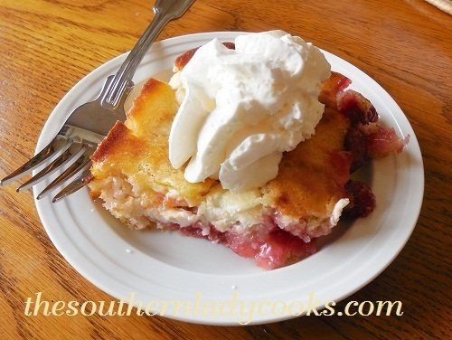 CHERRY CREAM CHEESE COBBLER