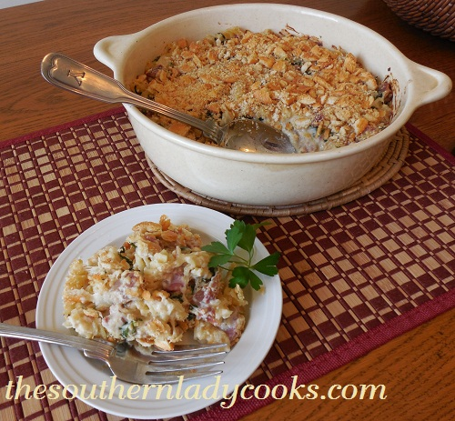 Ham, Spinach and Pasta Casserole - TSLC