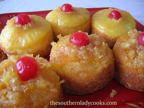 Pineapple Upside Down Cupcakes - TSLC