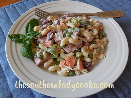 HAM AND BEAN PASTA SALAD