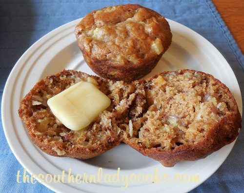Pineapple, Banana and Coconut Muffins TSLC
