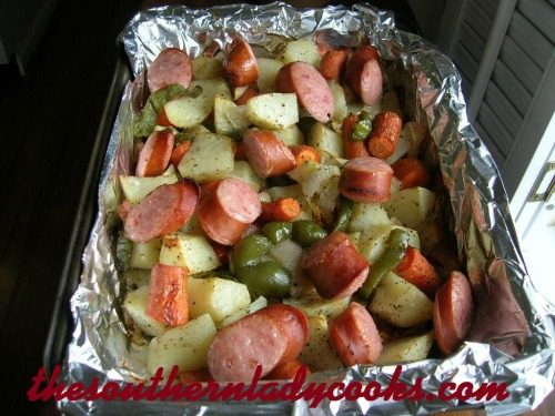Smoked Sausage And Roasted Vegetables The Southern Lady