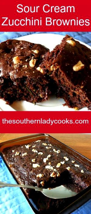 Chocolate Zucchini Cake With Sour Cream
