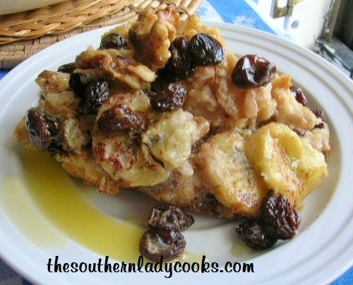BANANA BREAD PUDDING WITH RUM SAUCE | The Southern Lady Cooks