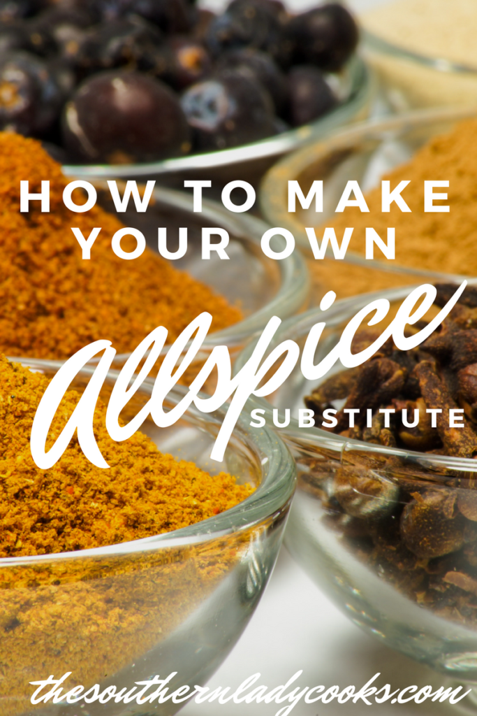 HANDY FOOD TIP – MAKE YOUR OWN ALLSPICE SUBSTITUTE