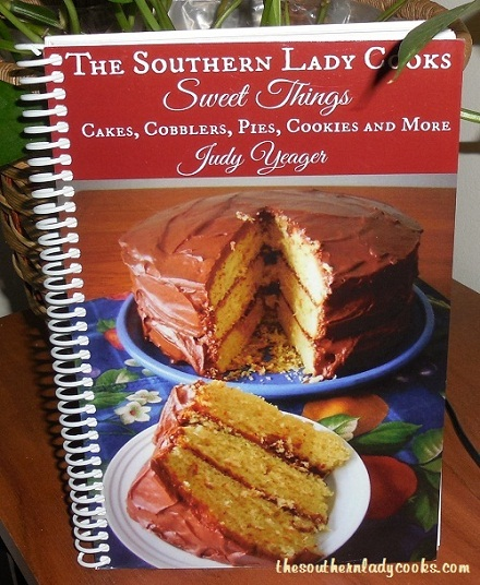 "COMING SOON, OUR FIRST COOKBOOK, THE SOUTHERN LADY COOKS, ""SWEET THINGS""."
