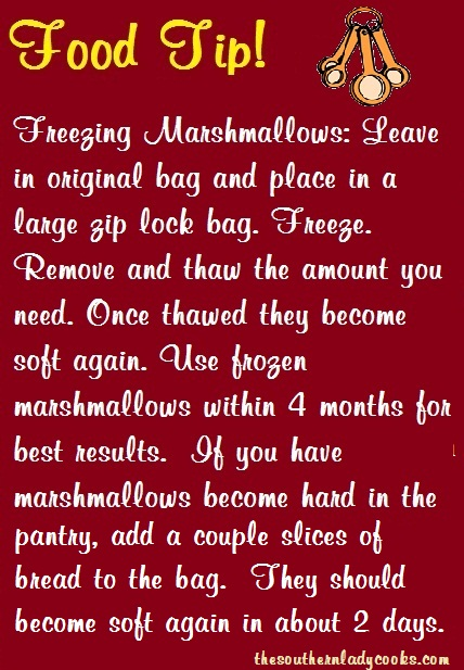 Freezing Marshmallows Tips - TSLC