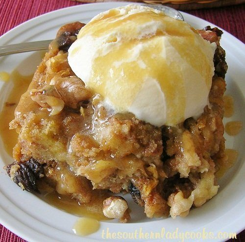 NUTTY APPLE BREAD PUDDING