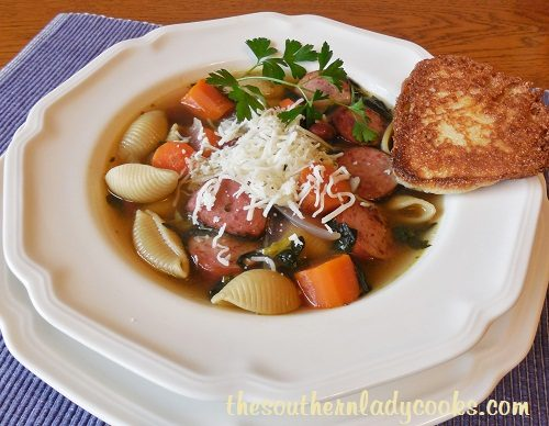SAUSAGE SPINACH PASTA SOUP