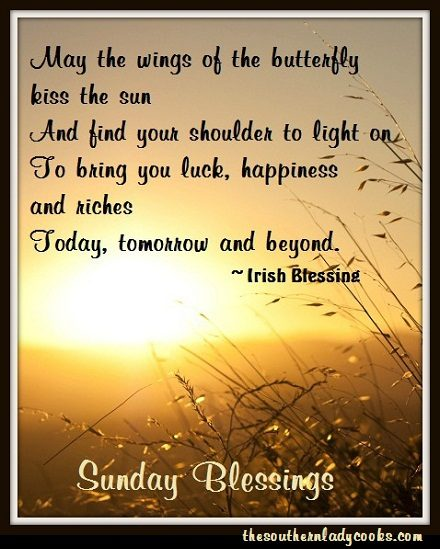 SUNDAY MORNING BLESSINGS