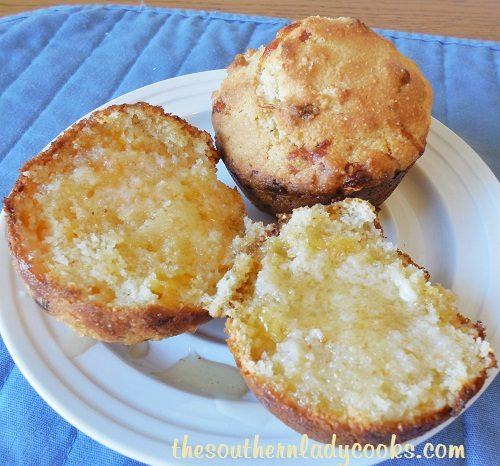 Cheesy Honey Cornbread Muffins -TSLC - Copy