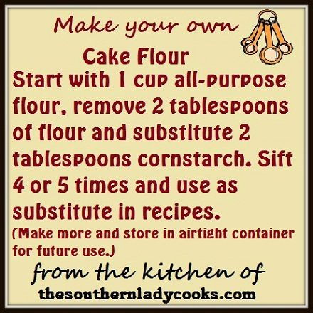 Make your own Cake Flour
