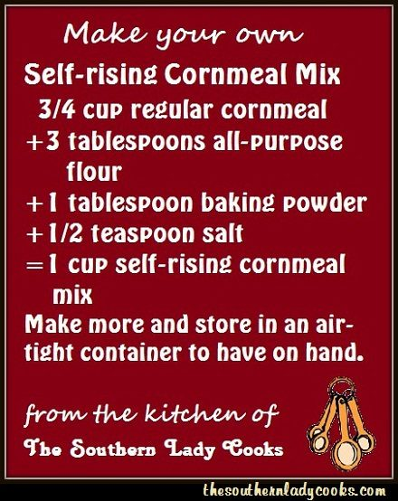 Make your own sr cornmeal mix.