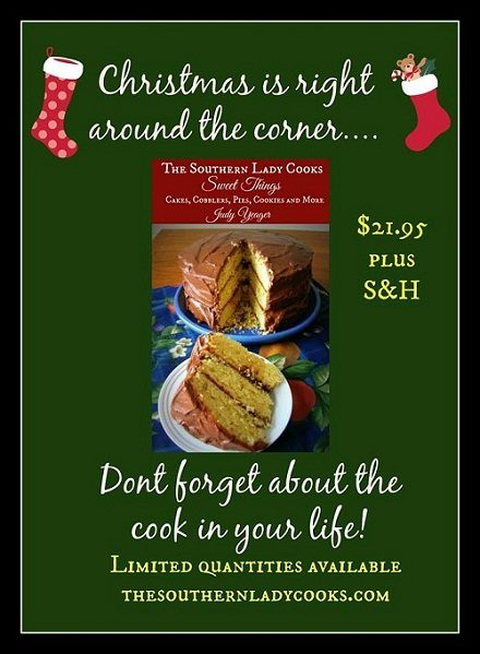 CHECK OUT OUR NEW COOKBOOK: SWEET THINGS!  GREAT CHRISTMAS GIFT FOR THE COOK IN YOUR FAMILY.