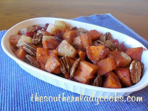 Crock Pot Sweet Potatoes, Pineapple and Cranberries - TSLC - Copy