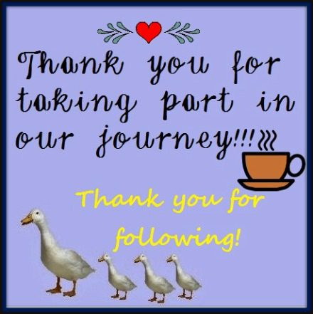 CATCHING YOU UP AND THANK YOU!