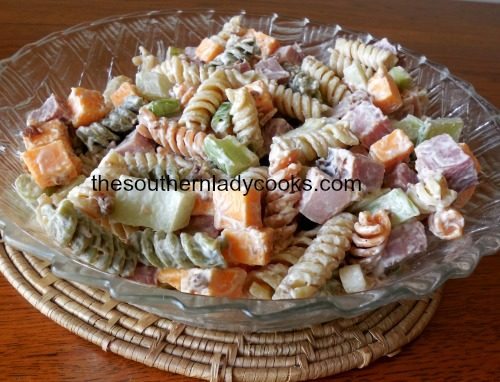 SMOKY HAM AND PASTA SALAD