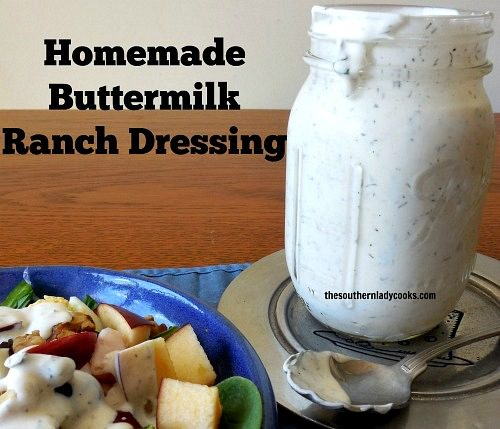 MAKE YOUR OWN HOMEMADE BUTTERMILK RANCH DRESSING