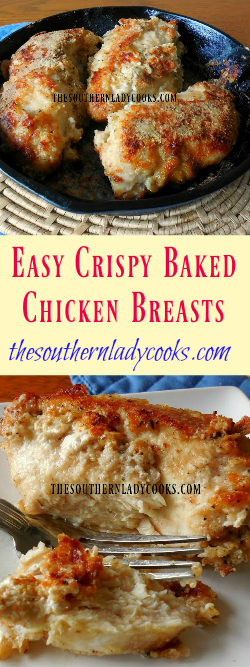 ... Lady Cooks Easy Crispy Baked Chicken Breasts - The Southern Lady Cooks