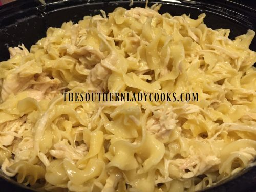 Crock Pot Chicken And Noodles The Southern Lady Cooks